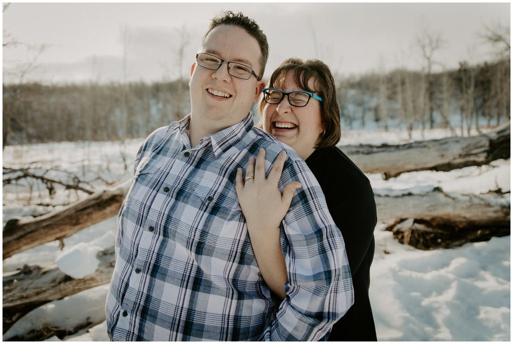 Fish Creek Park Winter Engagement
