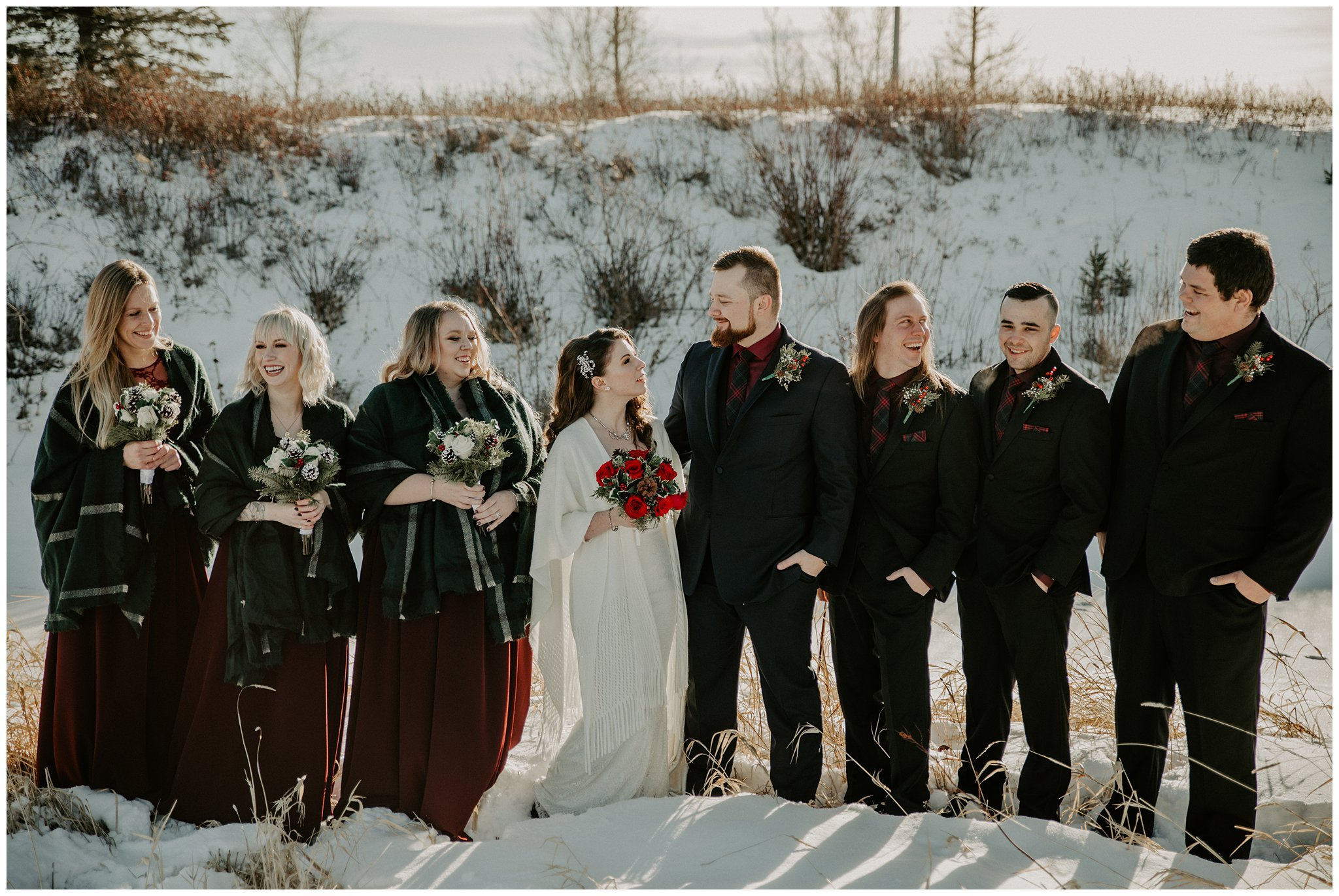 winter wedding in Airdrie Alberta