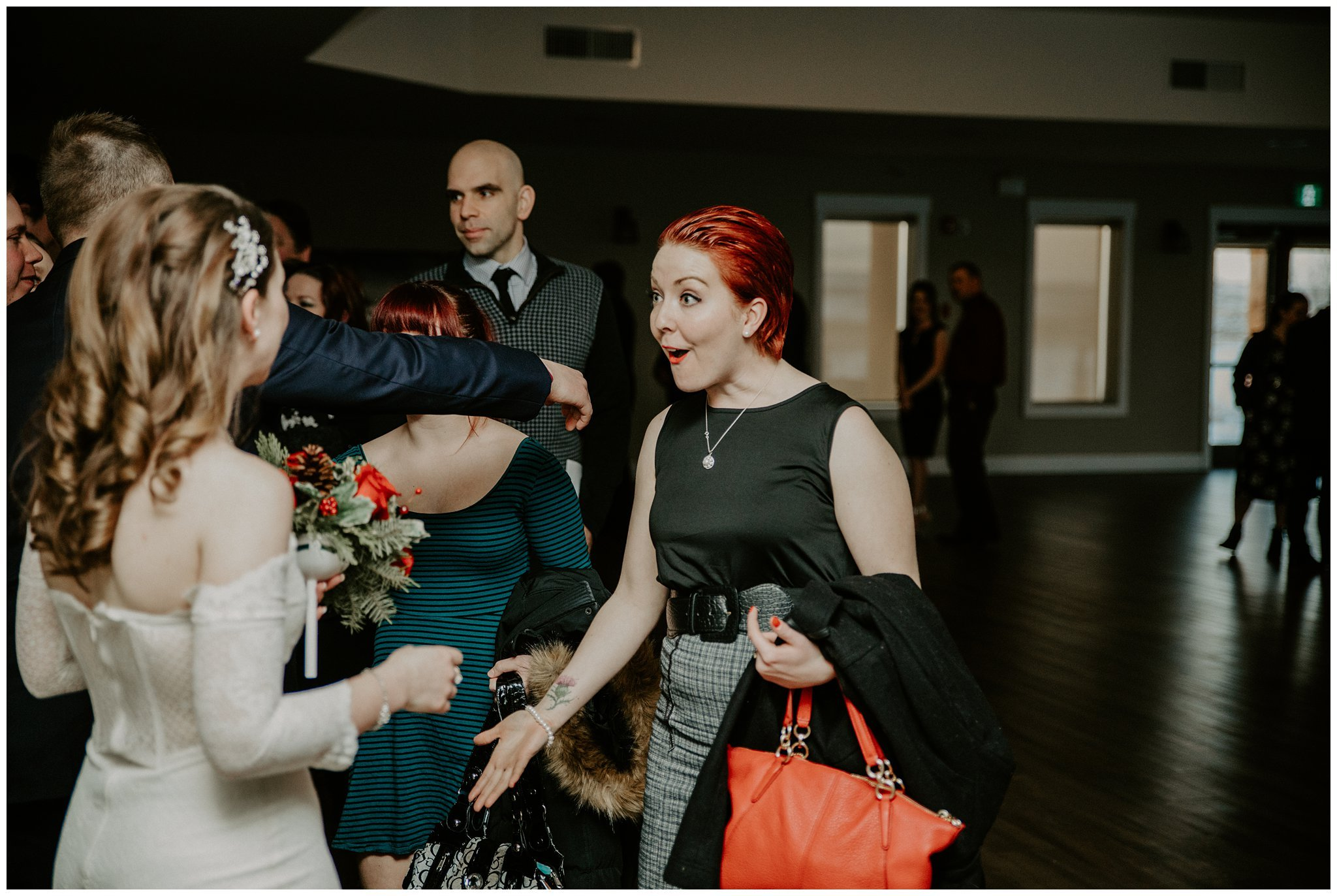 Receiving line at a wedding