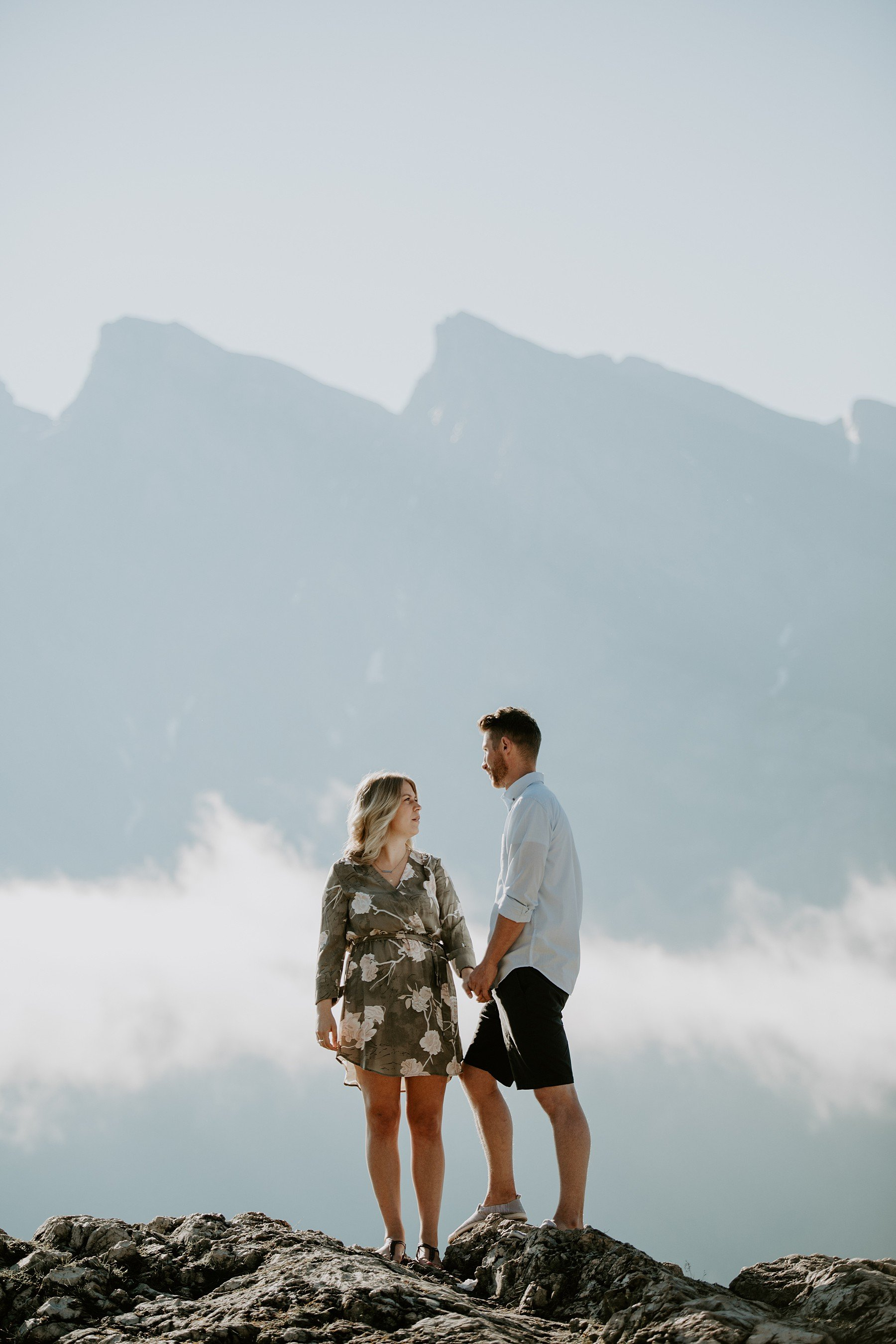 Lake Minnewanka Engagement