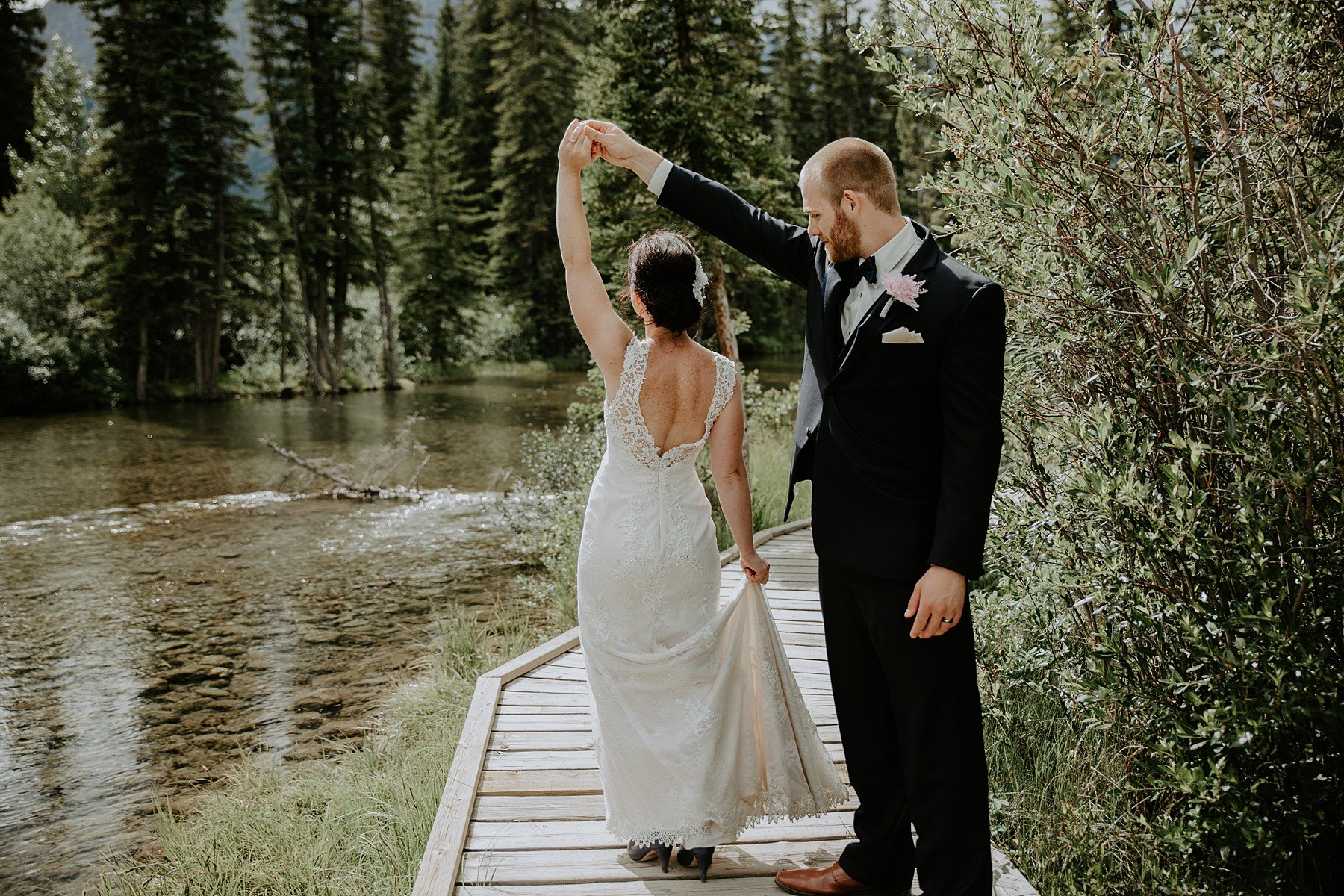 Policemans Creek Canmore Wedding Photos
