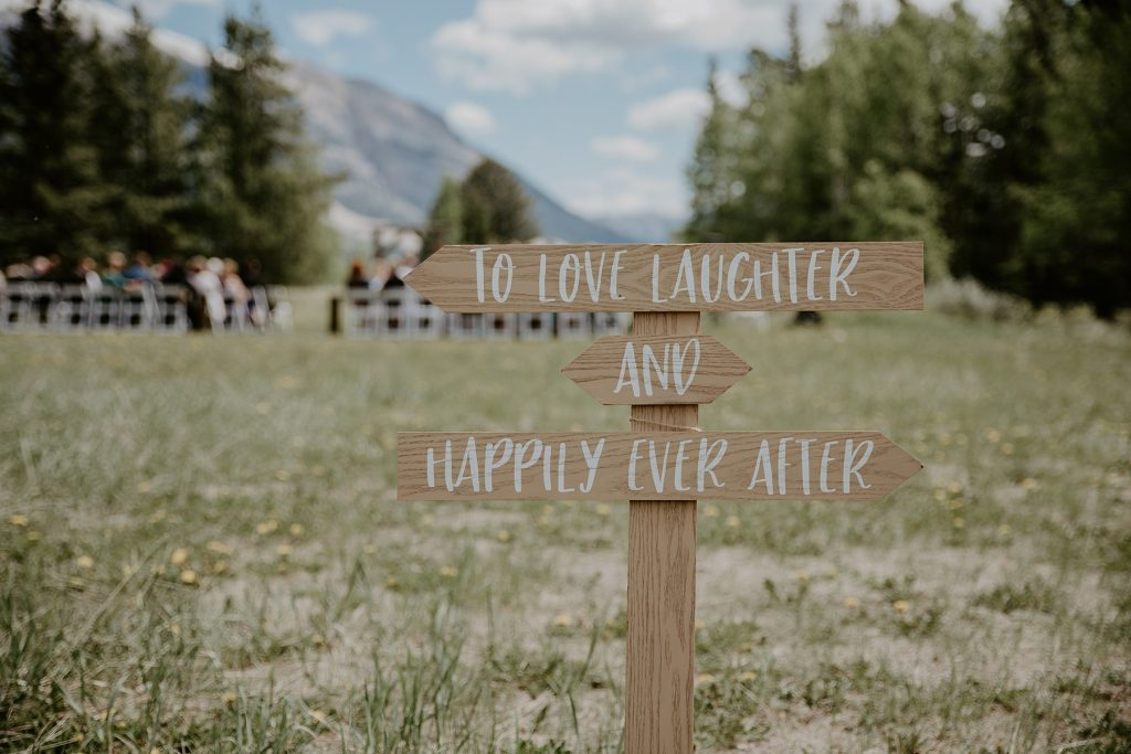 Rundleview park wedding ceremony Canmore