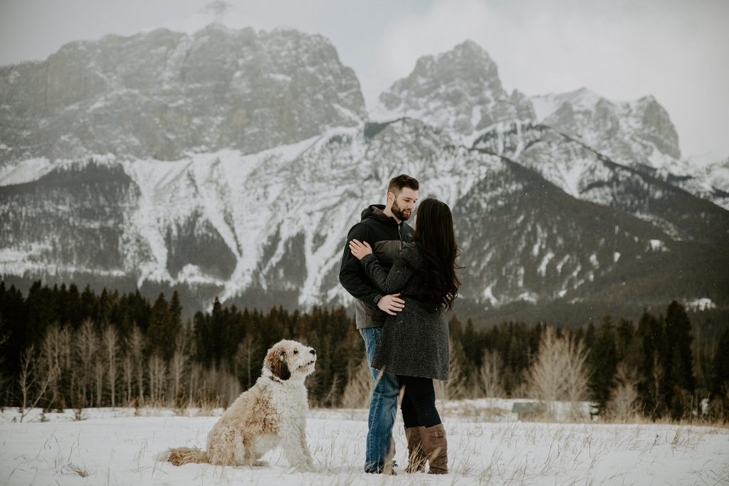 Canmore Engagement Photos at Quarry Lake Park Canmore