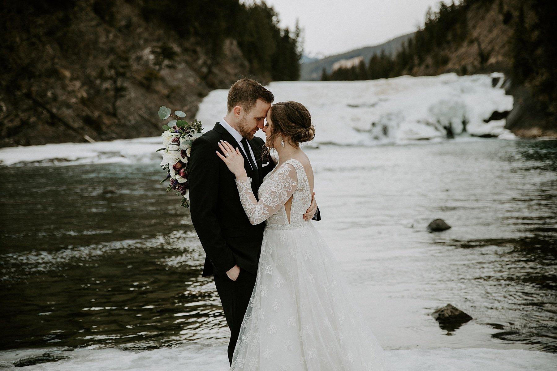 Bow Falls Wedding Banff