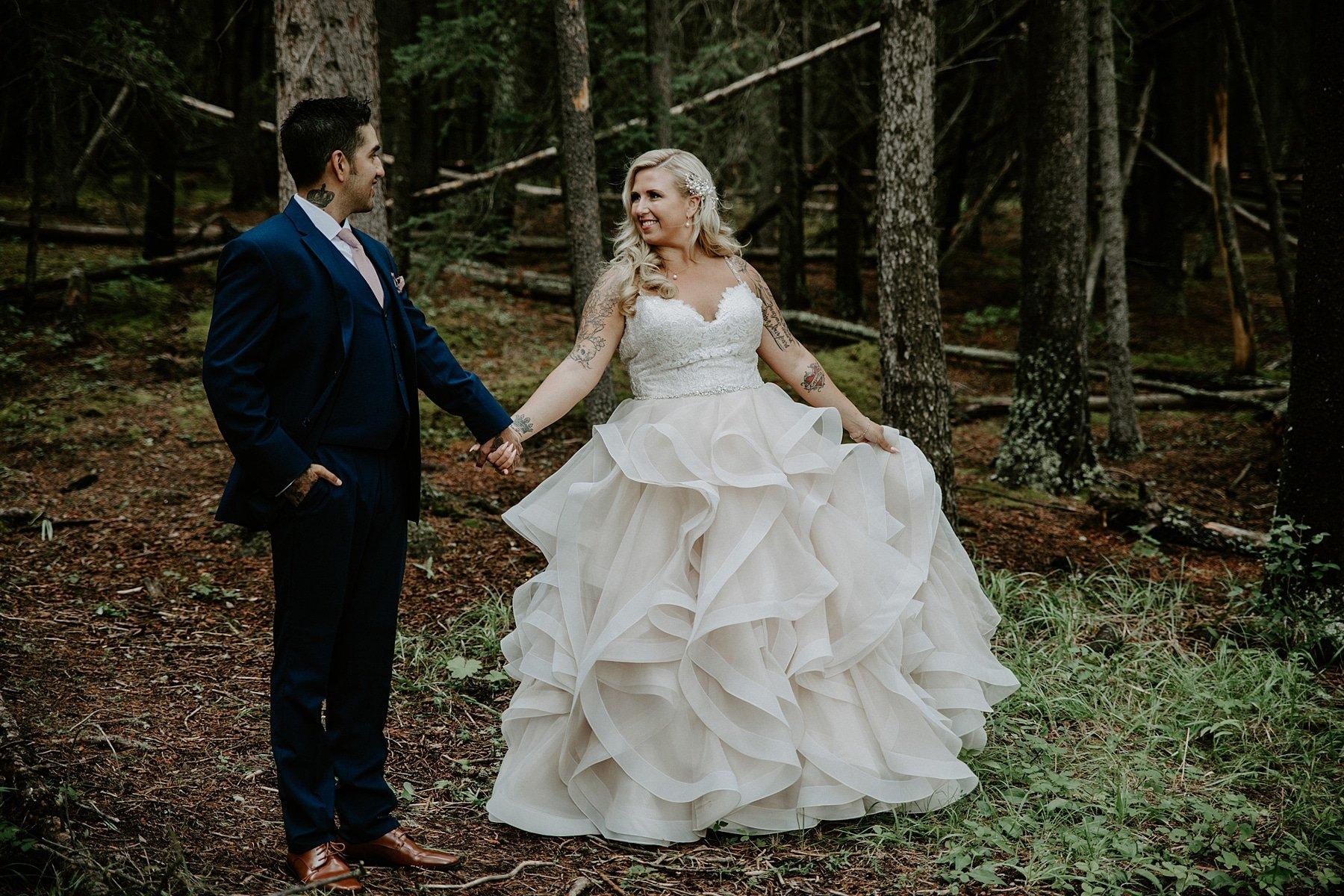 Buffalo Mountain Lodge Wedding in Banff