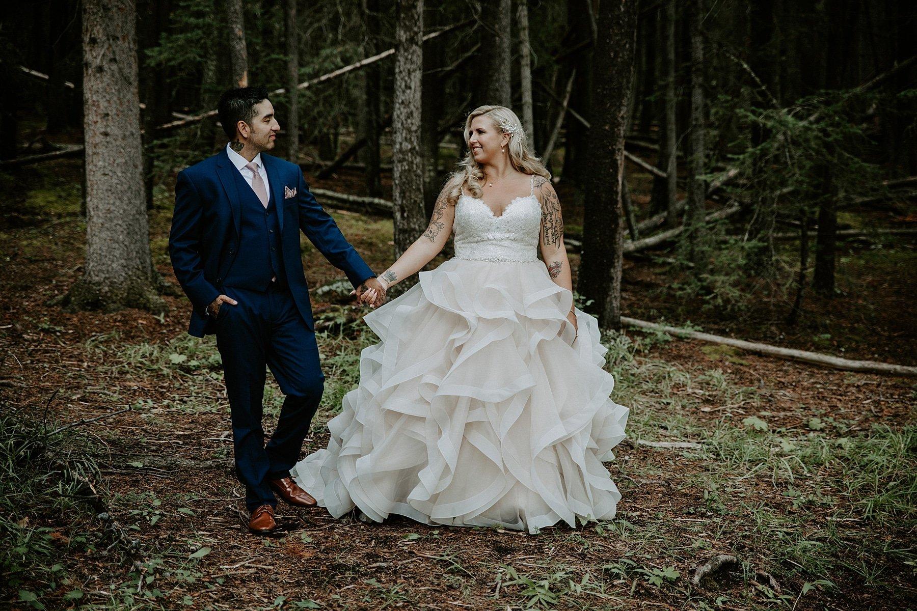 Two Jack Lake Wedding Photos in Banff