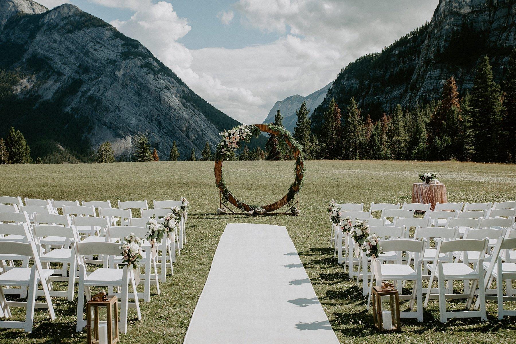 Tunnel Mountain Wedding ceremony