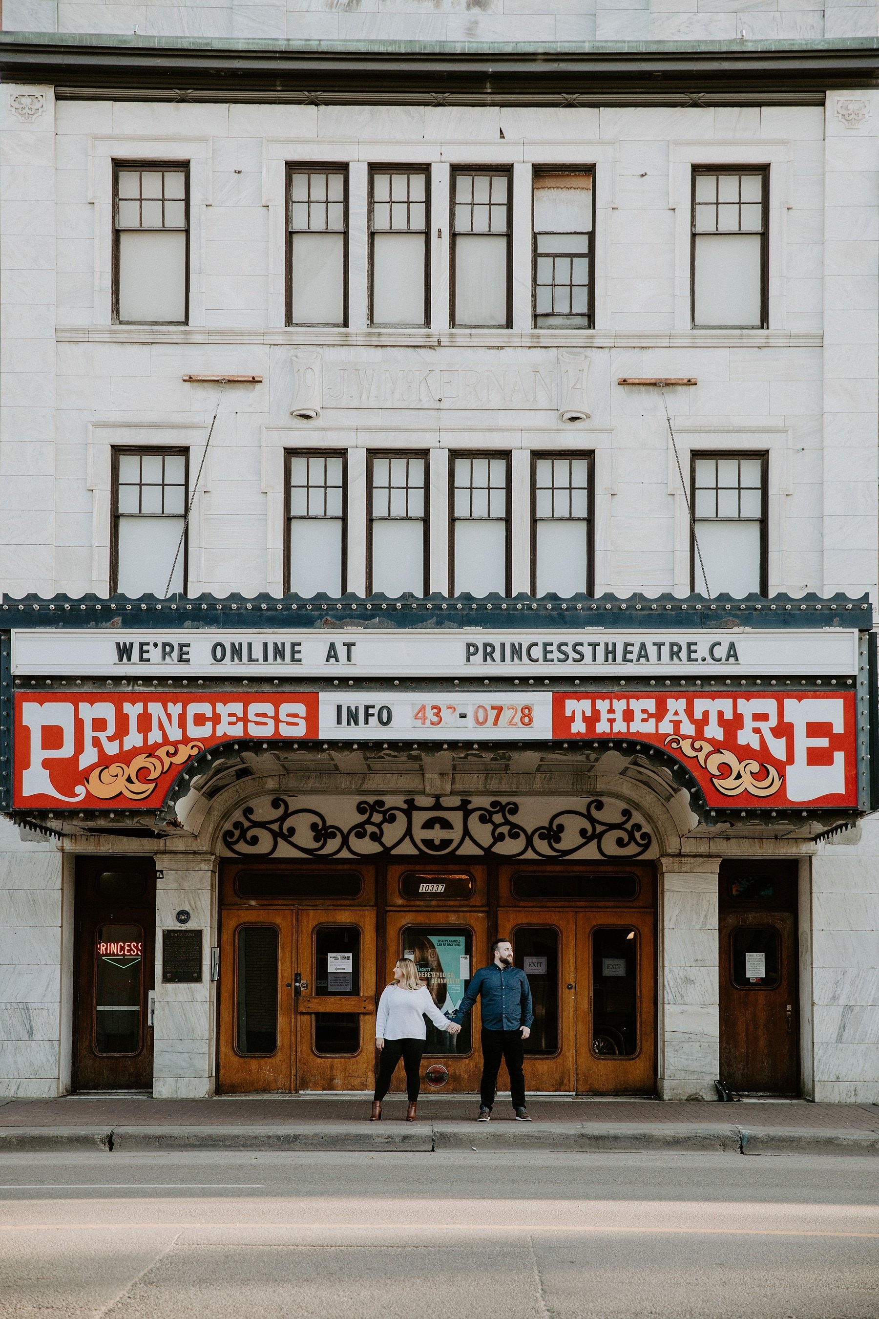 Princess Theatre Edmonton Engagement Photos