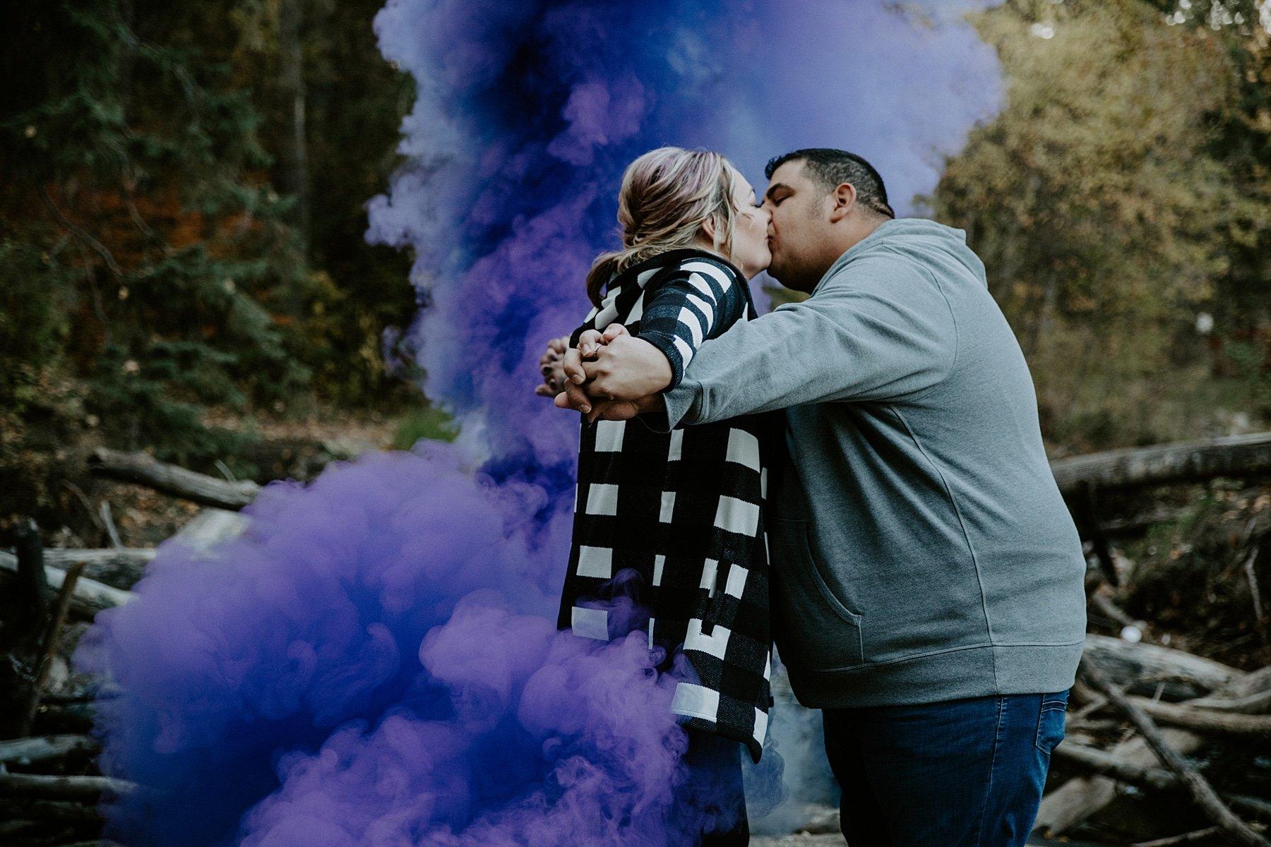 Smoke bomb engagement