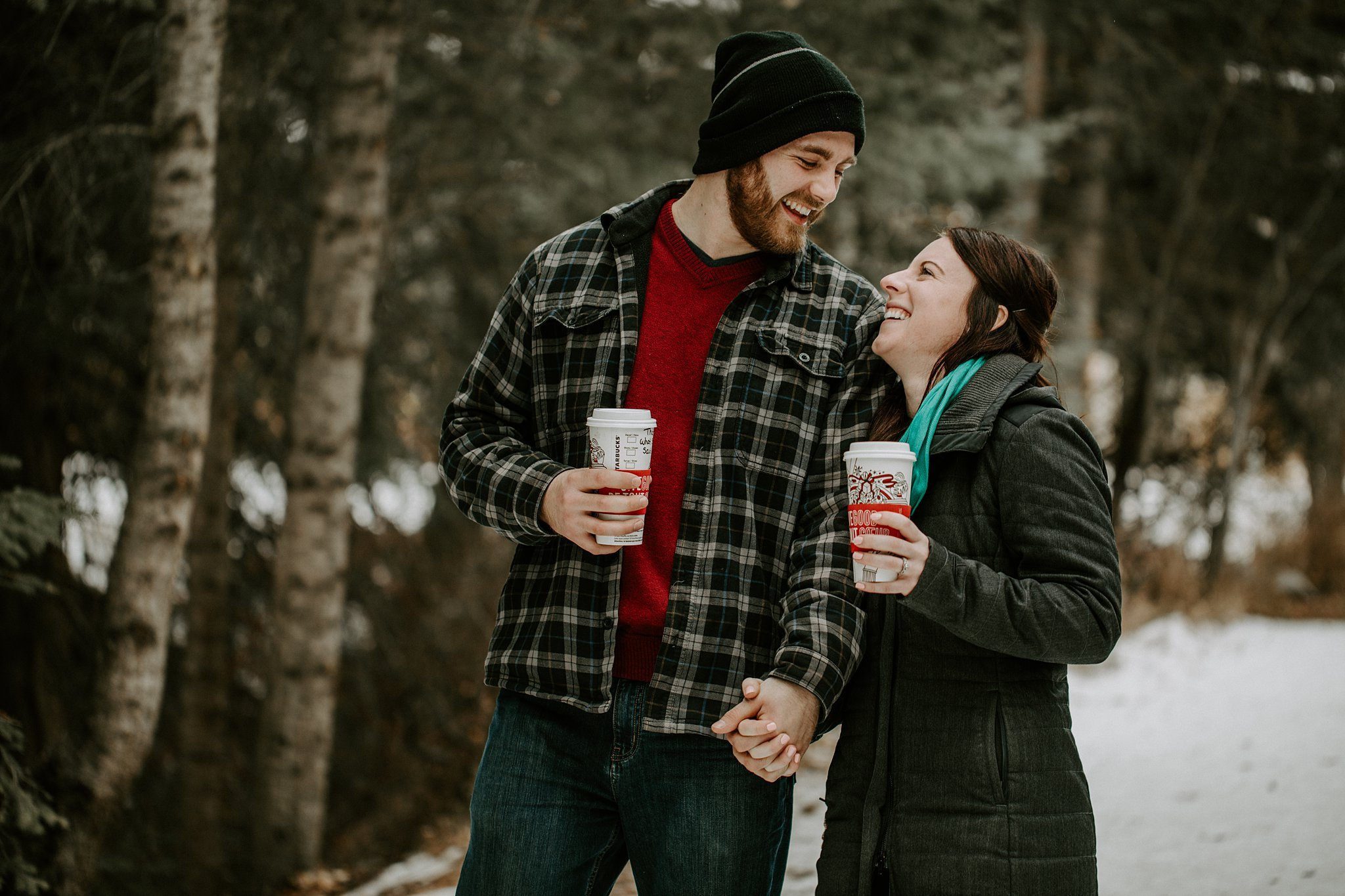 Engagement photos in Canmore