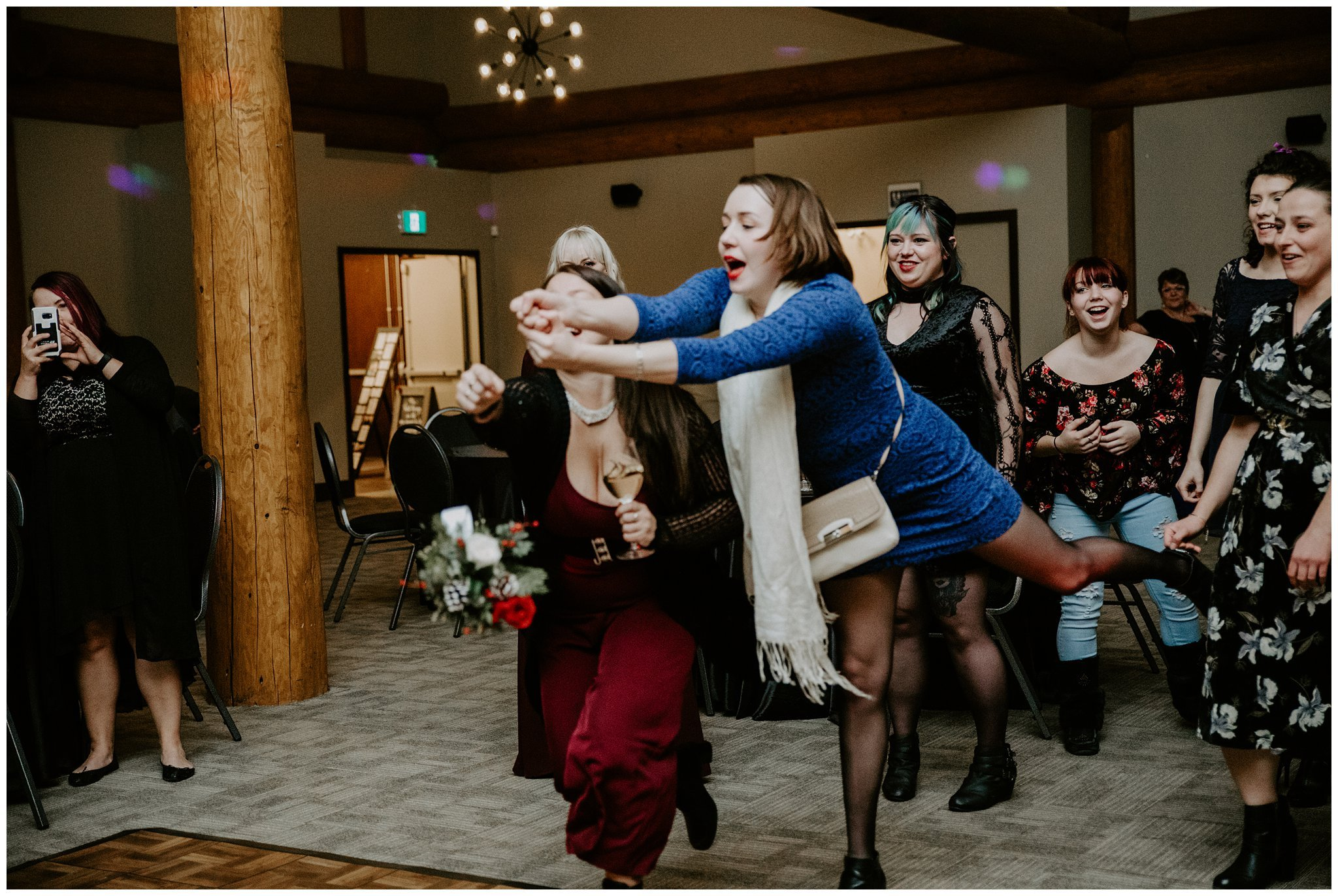 bouquet toss in airdrie
