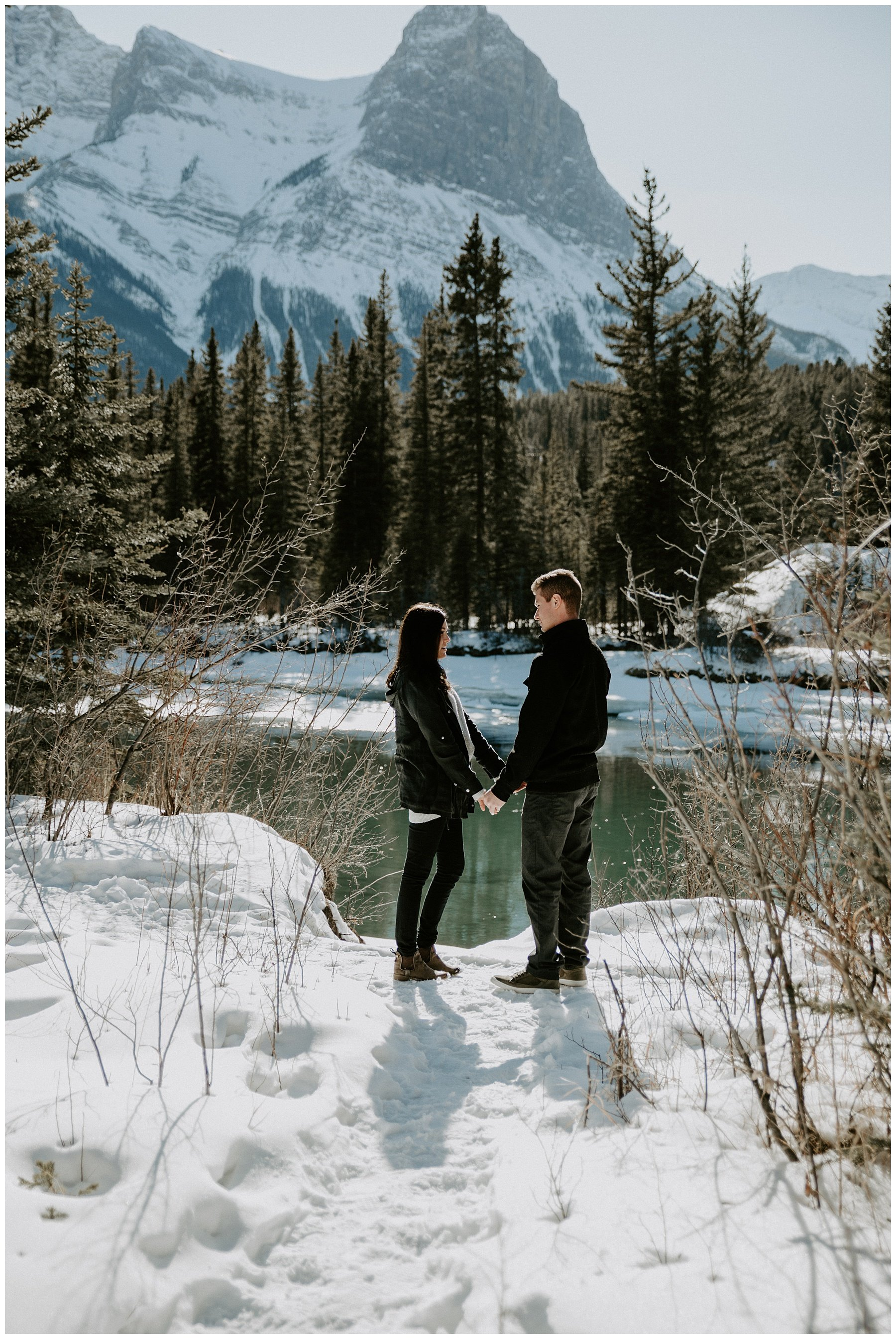 Canmore engagement photos in the spring
