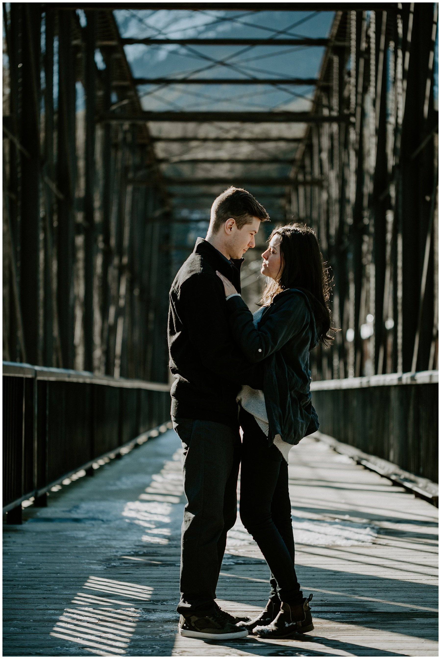 Canmore Old Engine Bridge Engagement