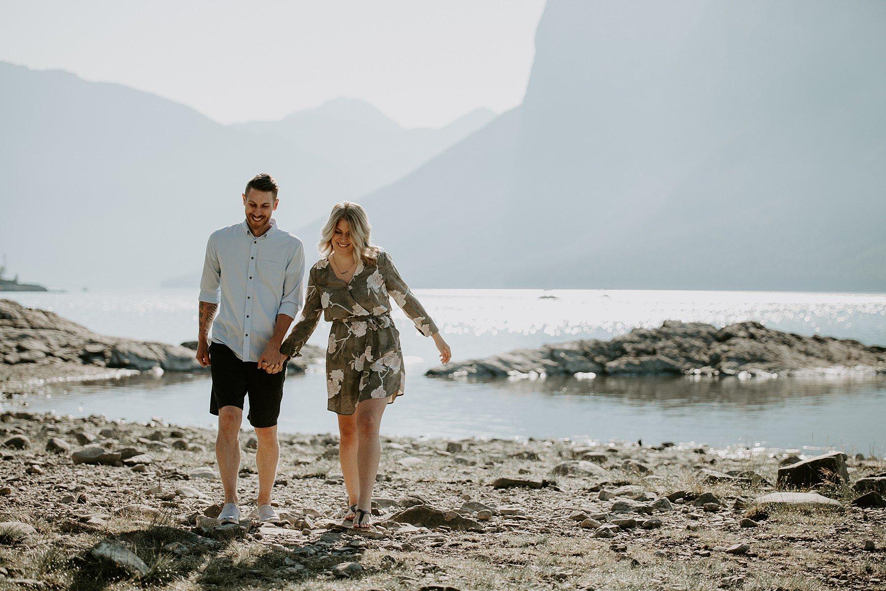 Lake Minnewanka Engagement
