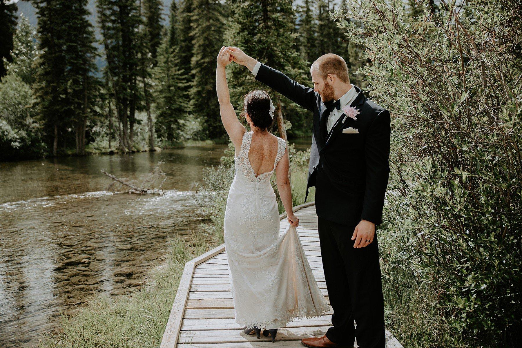 Policemans Creek Canmore Wedding Photos
