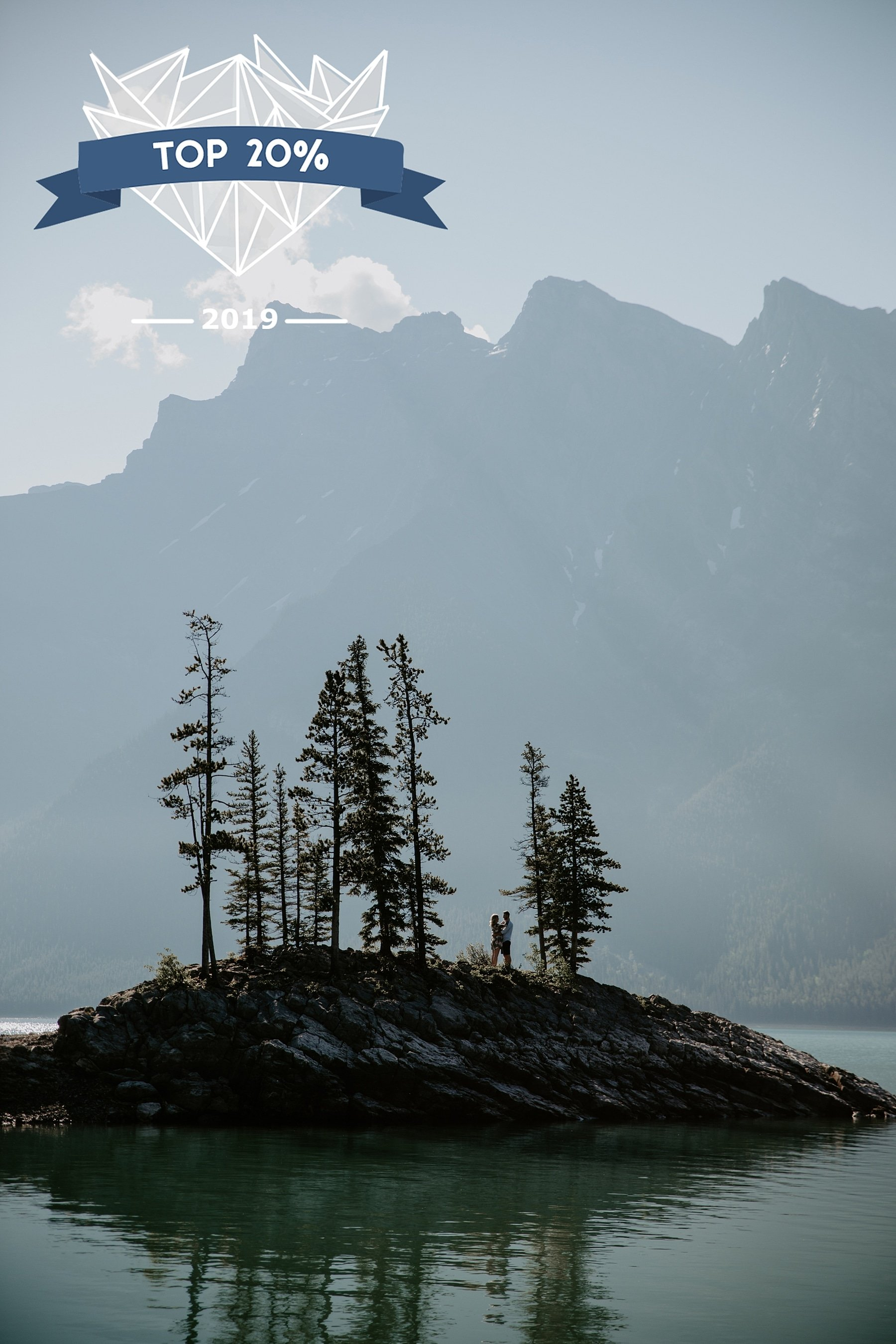 Shoot and Share Contest Lake Minnewanka Engagement