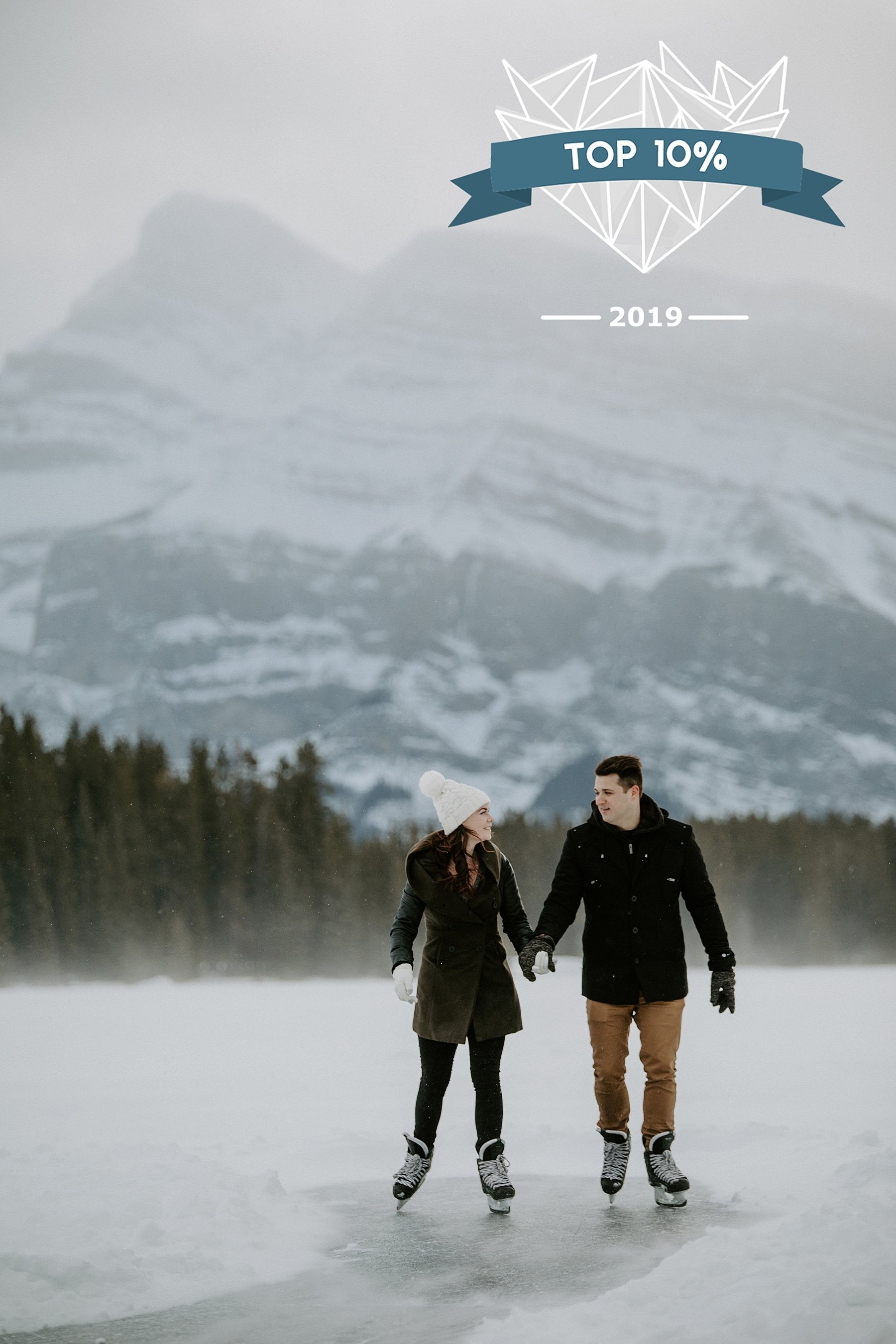Shoot and Share Contest Two Jack Lake Engagement Photos